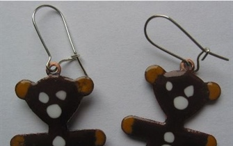 Ear rings Yogi Bear